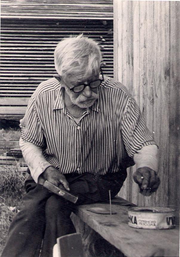 Vanaisa Alfred Laats 1975. Jaan Sootaki foto. Varje Sootaki kogu.